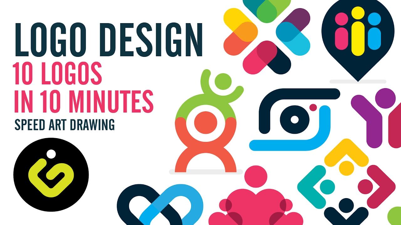 Logo Design 10 Simple Logos In 10 Minutes  YouTube