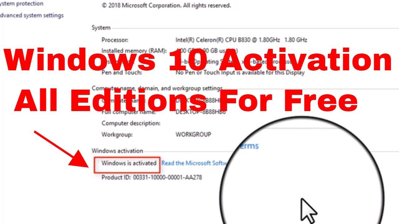 logiciel activation windows 10 gratuit