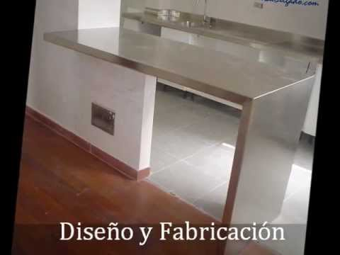 Dise o en muebles cocina inoxidables youtube for Diseno de muebles metalicos pdf