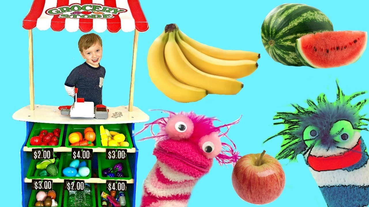 Fizzy Fun Toys: Learn Colors Fruits And Vegetables With Fizzy's Grocery