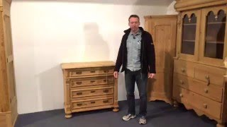 Antique pine 4 drawer chest of drawers for sale -Pinefinders Old Pine Furniture Warehouse