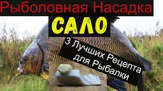 Супер Рыболовная Насадка -САЛО- 3 ЛУЧШИХ РЕЦЕПТА ДЛЯ РЫБАЛКИ