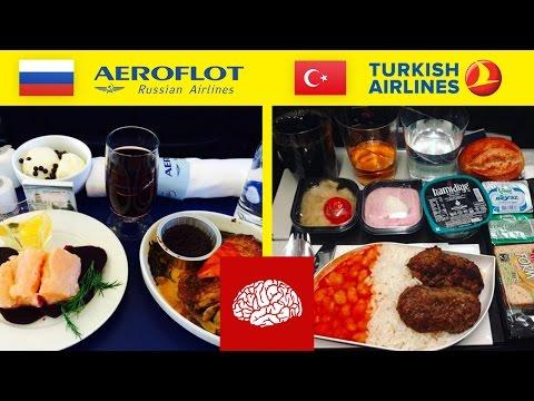 Essen im Flugzeug aus der ganzen Welt