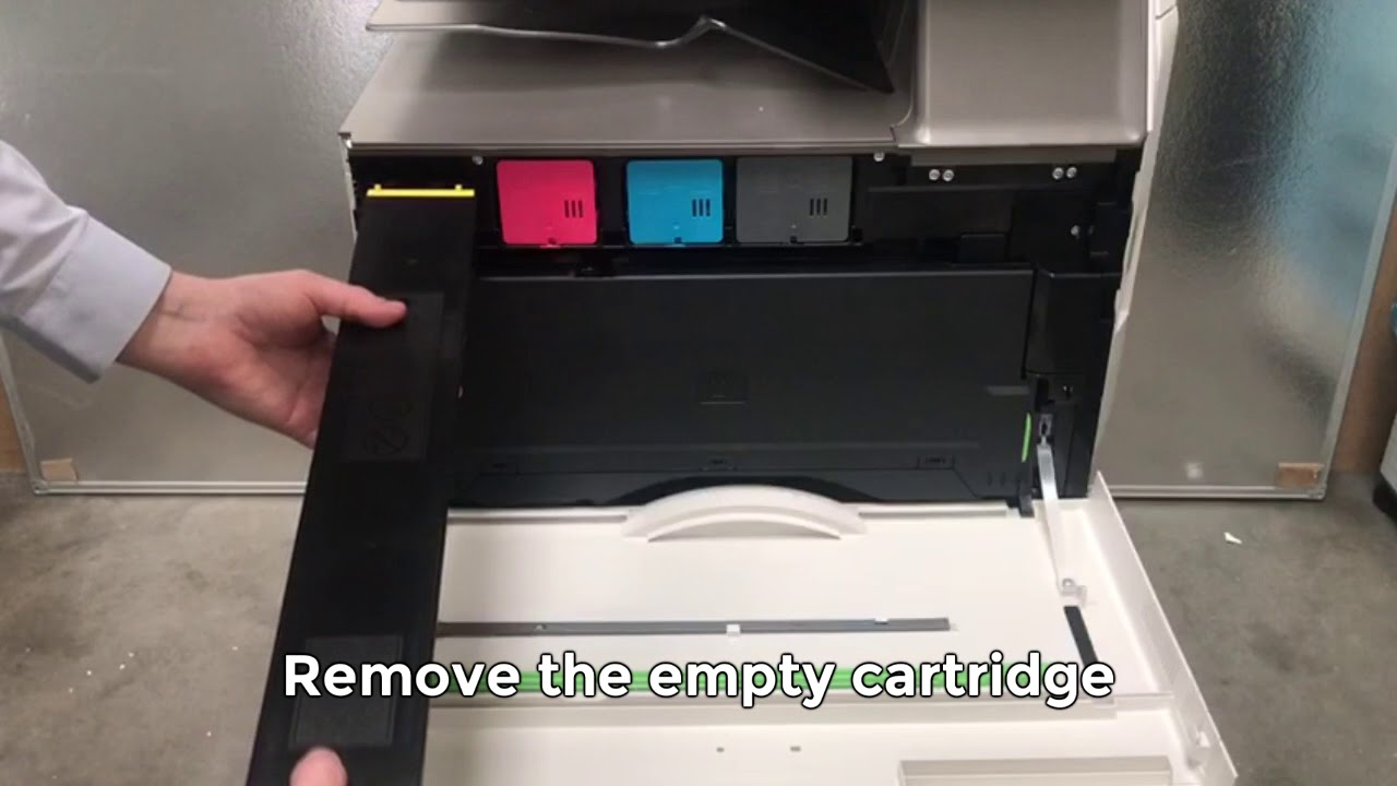 How To Replace A Toner Cartridge - Sharp MFP - 30/50/60/70