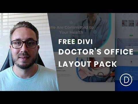 Get a Free & Clean Doctor's Office Layout Pack for Divi