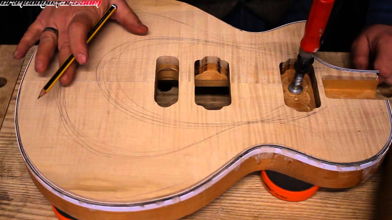 How to carve a Les Paul style guitar top.. by hand! pt 1 tools ...