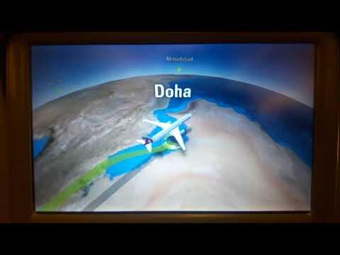 || Passenger Display Screen || Qatar Airways || Economy Class ||
