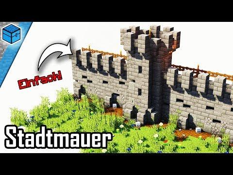 Minecraft Mauer Bauen 🏰   Stadtmauer In Minecraft Bauen Deutsch