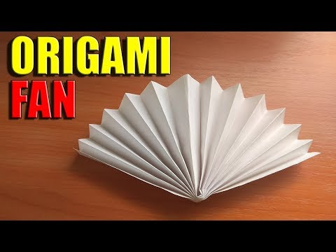 EASY PAPER FAN FOR CHILDREN. FUNNY CRAFTS FOR 1 MINUTES