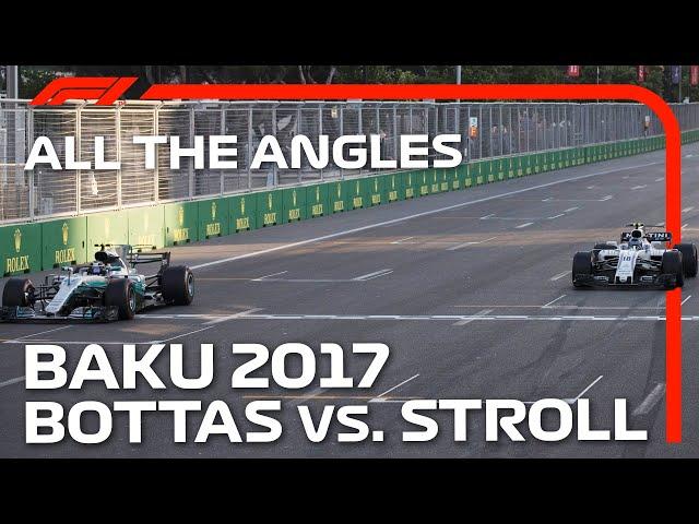 Bottas And Stroll's Photo Finish   All The Angles   2017 Azerbaijan Grand Prix