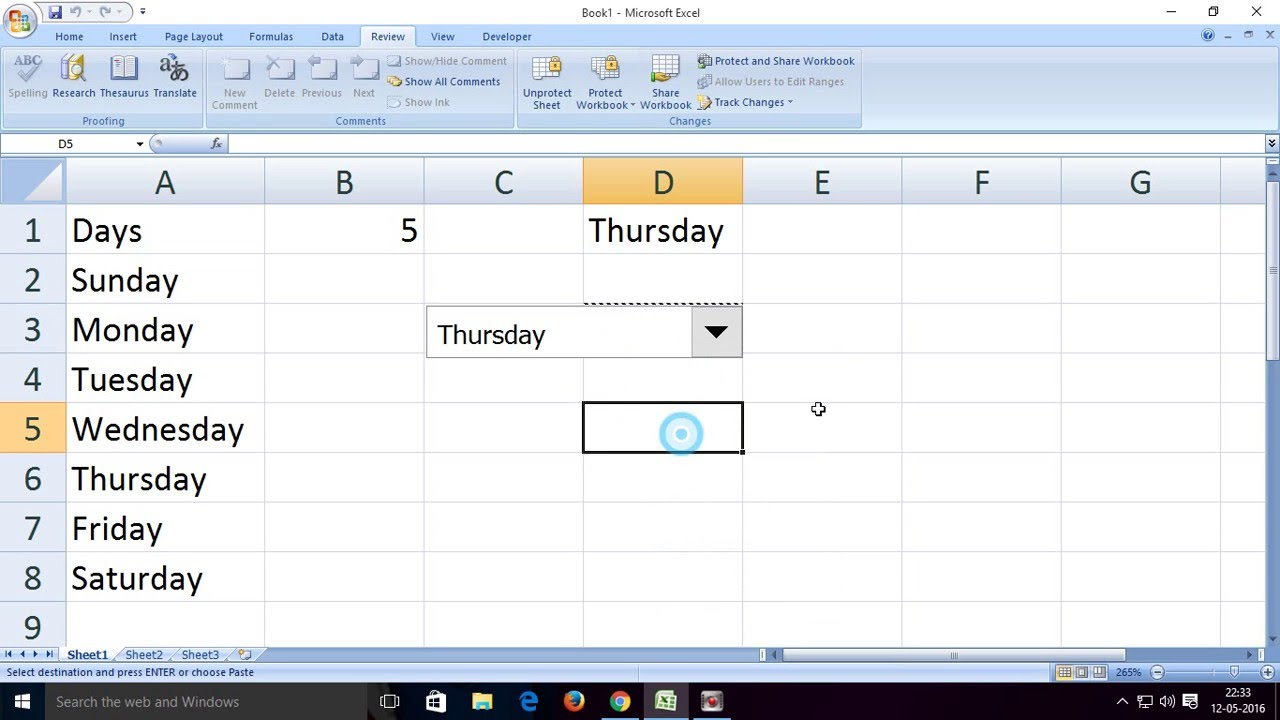 Workbooks excel 2013 unprotect workbook : How to create,use and protect combo box in excel for drop down ...
