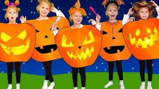Halloween Songs  Five little pumpkins  Nursery Rhymes for kids with Vitalina life