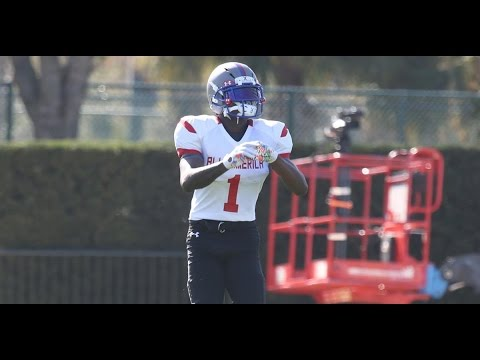 WR Jeff Thomas at Under Armour All-America Practice