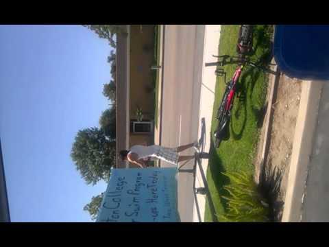Miguel Dancing On the Sidewalk