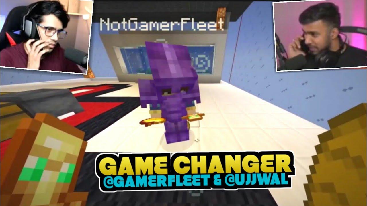 Ujjwal And Gamerfleet Secret Game Changing Plan   Herobrine Smp Highlights   Battle Factor