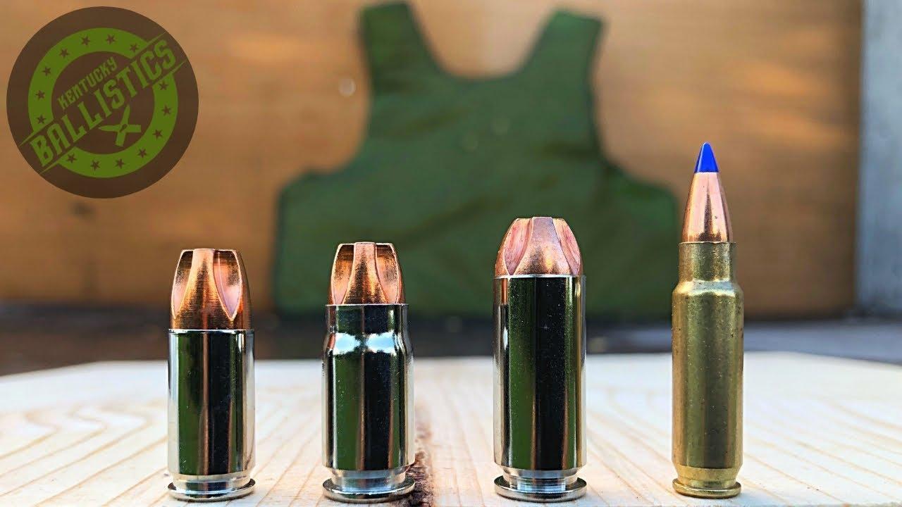 9mm vs .357 Sig vs 10mm vs 5.7x28mm vs Body Armor