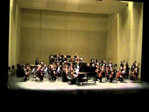 West Covina Symphony Orchestra and Mary Au perform Brahms Piano Concerto 2, movement 2