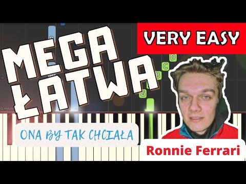 🎹 Ona by tak chciała (Ronnie Ferrari) - Piano Tutorial (MEGA ŁATWA wersja) 🎹