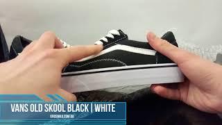 Живой видео обзор кеды Vans Old Skool Black White (реплика)