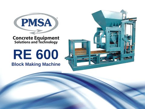 RE600 Block Making Machine- PMSA