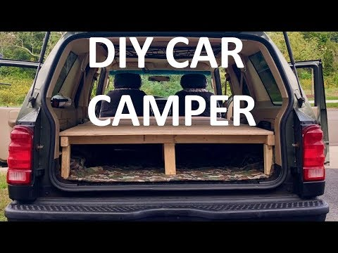 DIY SUV Camper Build - Wood Platform Bed for Car Camping