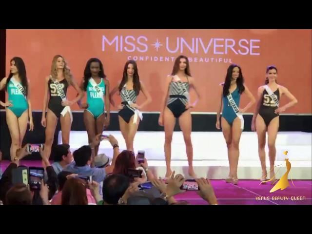 Miss Vietnam Lệ Hằng suýt ngã trong phần thi áo tắm Miss Universe 2016