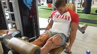 2 WEEKS OUT - LEGS! - High Carb Day