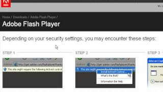 How to use flash player