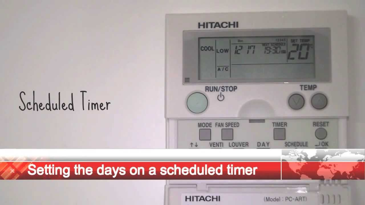 Hitachi Pc Art Scheduled Timer Settings Youtube