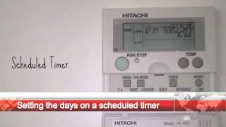 Hitachi PC ART Scheduled Timer Settings