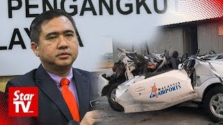 Driver's seat of MAHB vehicle that collided with aircraft was reclined