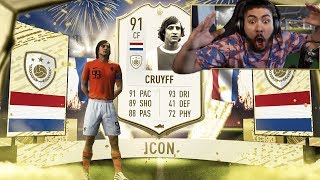 OMG I PACKED CRUYFF!! BEST ICON PACK OPENING!! FIFA 20