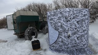 Рыбалка хапугой хлопком в Сибири в глухозимье