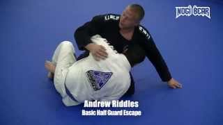 Basic Half Guard Escape by Andrew Riddles of South Jersey Brazilian Jiu-Jitsu • Nogi Bear®