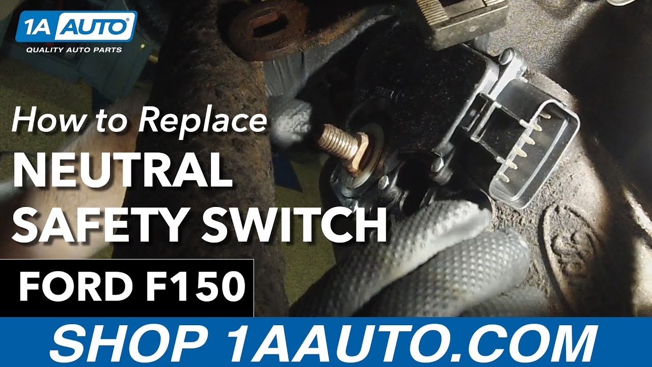 How to Replace Install Neutral Safety Switch 199703 Ford F150  YouTube