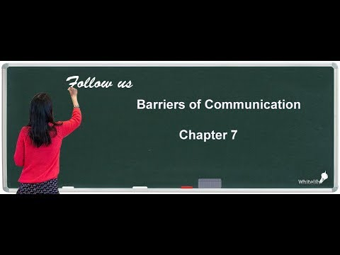 Barriers Of Communication Class12 Business Studies Chapter7