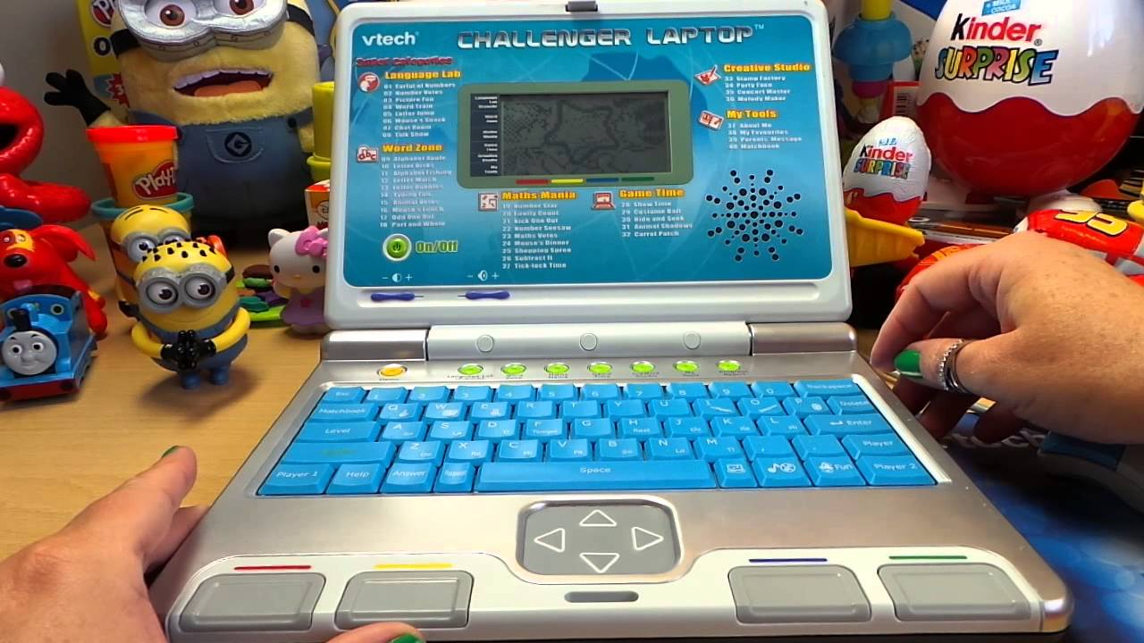 Vtech Challenger Blue Preschool Educational Toy Learning Laptop