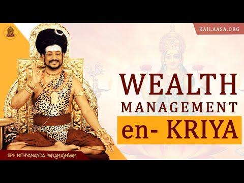 Wealth Management through eN-Kriya: Nithyananda