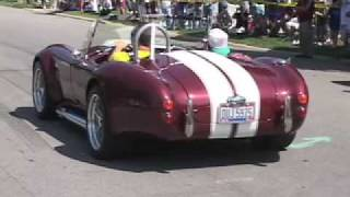 Lots of burn outs from London, OH. Ford Shelby Cobra show
