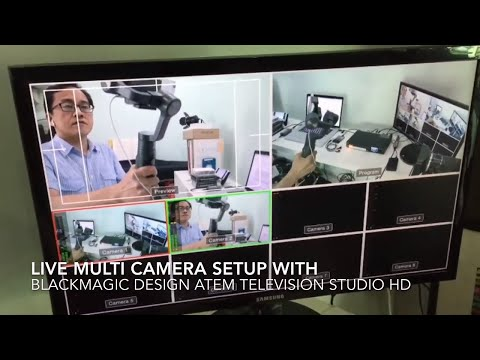 Multicamera live switching setup with BlackMagic Design ATEM Television Studio HD