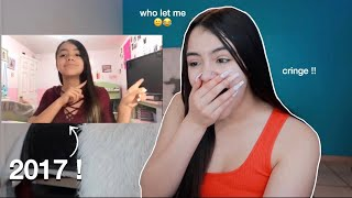reacting to my first youtube video ! ...