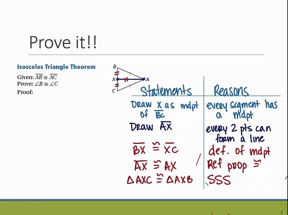 Geometry: Section 4.9- Isosceles & Equilateral Triangle Proofs ...