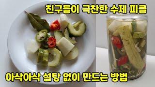 유산균 폭탄 설탕 없이 만드는 비타민고추 수제피클 ( …