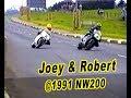 Joey v Robert -Clash of the Dunlops at NW200 1991 Honda v Norton