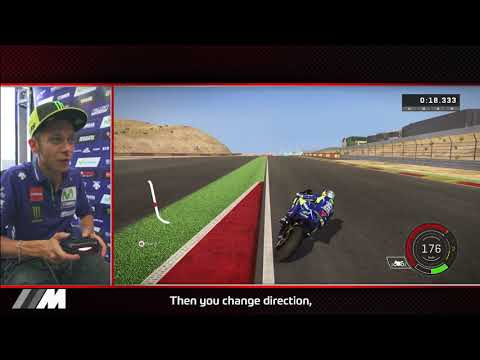 Rossi races with MotoGP™17 in Aragón – follow a lap with the legend