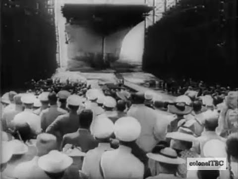 U. S. launches new aircraft carrier USS Essex (CV-9) - 31 July 1942
