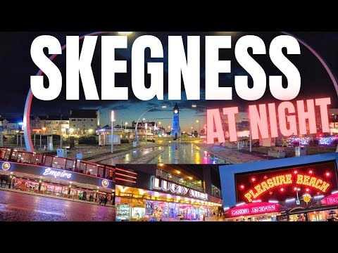Skegness Seafront Tour At Night