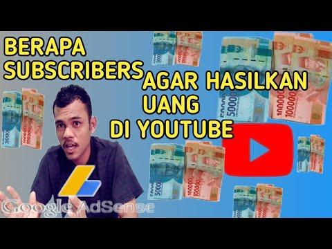 Berapa Subscribers Untuk Bisa Dapatkan Uang Dari youtube-udo parno