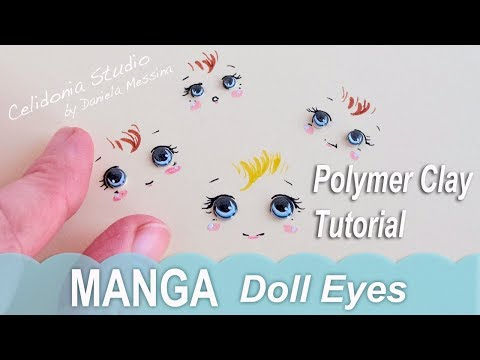 Doll Eyes Manga Style 2 - Polymer Clay Tutorial