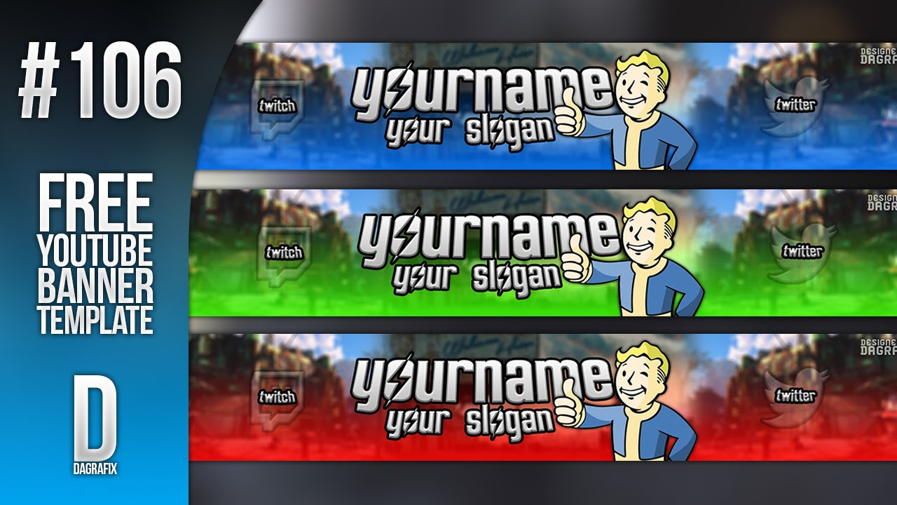 free youtube banner template photoshop lukeabbogfx